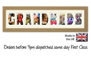 Grandkids Photo Frame Photos in a Word, Gift for Nanny & Grandad.