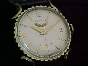 Excellent Vintage Benrus Bottlecap Watch With Silver Dial Serviced And Restored