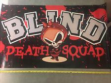"""New listing Blind Skateboards Skate 36"""" x 20"""" Death Squad Banner Poster Old School Ol Boney"""