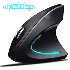 Mouse wifi ottico per pc laptop verticale wireless posizione braccio corretta