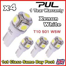 4X 5 SMD LED T10 W5W 501 PUSH WEDGE INTERIOR LIGHT SUPER BRIGHT 360 WHITE
