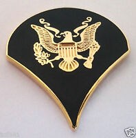 US ARMY RANK SPC-4 (DARK GREEN) Military Veteran Collar / Hat Pin 14475 HO