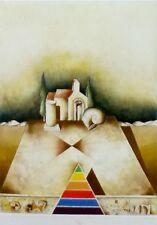 """Matko Trebotic """"Segmente im Dreieck"""" Hand signiert 1987 geprägtem Radierung"""