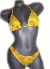 New Sauvage California Bikini swimsuit yellow M orange designer neon 2PC