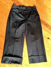 BRAX FEEL GOOD BLACK  CUFFED CROP CAPRI US SIZE 10 R X 25""