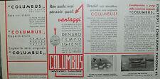 "Pubblicità WERBUNG - 1935 "" COLUMBUS - IMPASTATRICE - TAGLIATRICE made Italy"""