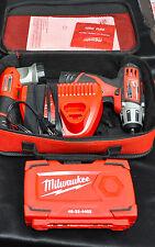 "Milwaukee 2401-20- 12V- 1/4"" Cordless Compact Driver Combo - USED!"