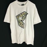 Famous Stars & Straps Shirt NEW Size Large Very Rare Design White Skate L