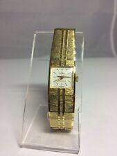Women's Solina Watch Mechanical Wind Up Gold Tone Hong Kong Dial 7.5 Inch Wrist