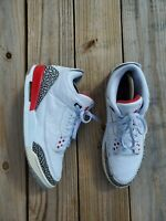 Nike Air Jordan 3 Retro Hall Of Fame Katrina Fire Red Cement 136064-116 Size 12