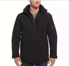 Weatherproof Mens Size Large Black Removable Hood Double Zip Jacket Ultratech.A9