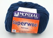 3 Balls of Mondial Superwool Knitting Yarn Color 45