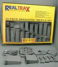 Rail King Real Trax 24 Piece Graduated Trestle Set 40-1033 O Scale