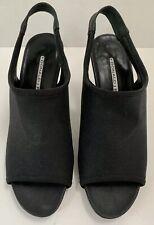 Women's Donald J Pliner Anya Black Stretch Heels Slingback Peep toe Size 6 1/2M