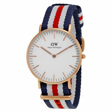 Nylon Gold Plated Case Women's Adult Wristwatches