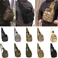 Men's Tactical Chest Bag Backpack Molle Crossbody Sling Messenger Shoulder Pack
