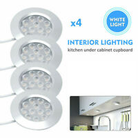 4X 12V White Light LED Recessed Interior Dome Ceiling Lamp For Boats Camper UK