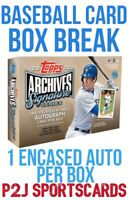 Topps 2020 Archives Signature Series Box Break - 1 Random Team⚾️MLB⚾️Break 2969