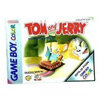 Notice jeu Nintendo Game Boy Color Tom and Jerry Instruction Booklet Manuel EUR