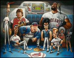 "A Tribute to Major League Giclée Print 22"" by 28"" By Artist David O'keefe"
