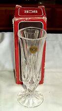 """Vintage RCR Italian Lead Crystal """"Linear A"""" Vase Royal Crystal Rock Unused Boxed"""