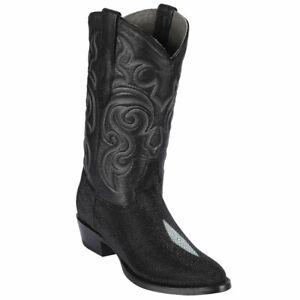 Men's Los Altos Genuine Single Stone Stingray Western Boots Round Toe D Width
