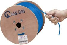 1000ft Bulk Cat6A Plenum Cmp Solid Bare Copper 750Mhz 23Awg Ethernet Cable Blue