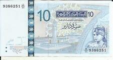 TUNISIA 10 DINARS 2005  P 90. UNC CONDITION. 4RW 12ABRIL