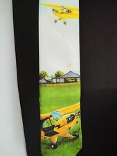Vintage Ralph Marlin J-3 Piper Cub Airplane Collectible Necktie New