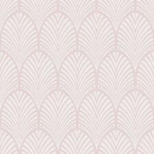 Gatsby Art Déco Papier peint Sombre Rose - Holden décor 65252 Metalique