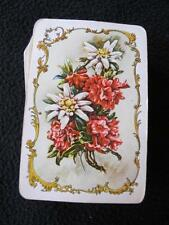 VINTAGE 1960's PACK DECK of PIATNIK PLAYING CARDS - ALPINE FLOWERS - EDELWEISS
