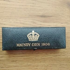 Maundy Coin Set 1906 in a dated box - box of issue