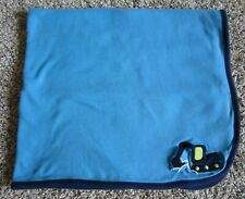 Just One You Carter's Baby Blanket Blue Gray Stripe Construction Machine Digger
