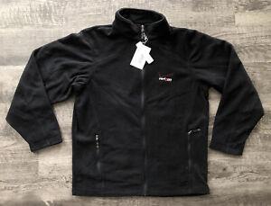 New Verizon Employee Black Fleece Jacket Full Zip Men's Size Medium