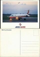 Ansichtskarte  MD 87 auf Startbahn Flugwesen - Flugzeuge Aero Lloyd 1986