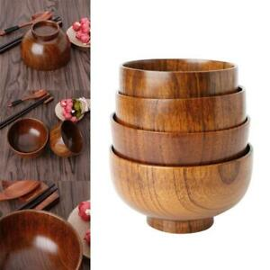 Natural Jujube Wooden Rice Soup Bowl Food Containter Kitchen Utensil Tableware