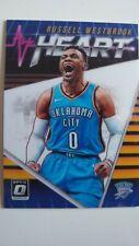 Russell Westbrook Carta Baloncesto NBA Oklahoma City thunder Card 2018/19 heart