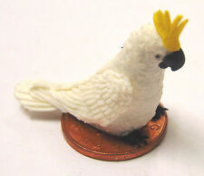 1:12 Scale Large White Cockatoo Dolls House Miniature Garden Bird Accessory C1