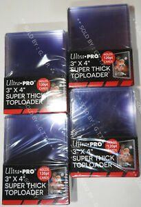 ULTRA PRO TOP LOADERS  - 3 X 4 INCH SUPER THICK CLEAR 120PT(X40)  - FREE UK P&P