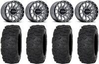 "Raceline Trophy 14"" Grey Wheels 30"" Roctane XR Tires Can-Am Maverick X3"