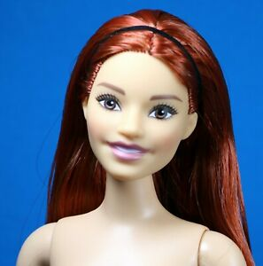 Barbie Fashionistas Made to Move Curvy Pale Skin Articulate Red Hair Nude