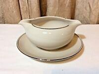Vintage Carillon Harmony Porcelain Gravy Boat w/Gold Rim - Fine China USA