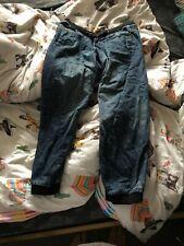 mens cuffed jeans 30w 30l elastic waist