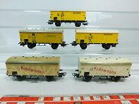 AT138-1# 5x Märklin H0/AC Kühlwagen/Bananenwagen Jamaica DB 307 327154 DB