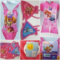 Girls Swimming Costume Paw Patrol Bikini OFFICIAL UV Swimsuit