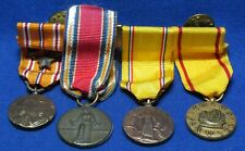 WWII Freedom Victory, American Defense, China Service Dress Medals With 4 Medals