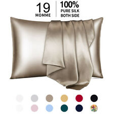 100% Pure Mulberry Silk Pillowcase 19 Momme Bed Pillow Cases for Hair and Skin
