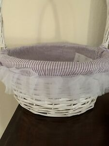 Celebrate It Easter Basket Purple White Striped Liner  *Free Gift Included*