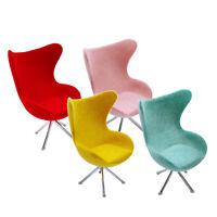 4Pc 1/12 Dollhouse Plastic Flocking Seat Swan Chair Furniture Decor Toy