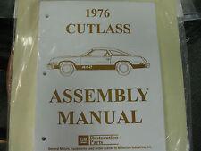 1976 CUTLASS, 442 (ALL MODELS) ASSEMBLY MANUAL